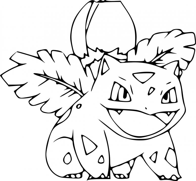 Coloriage Herbizarre Pokemon