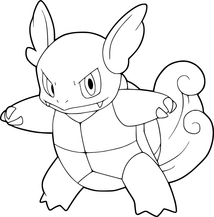 Coloriage Carabaffe Pokemon