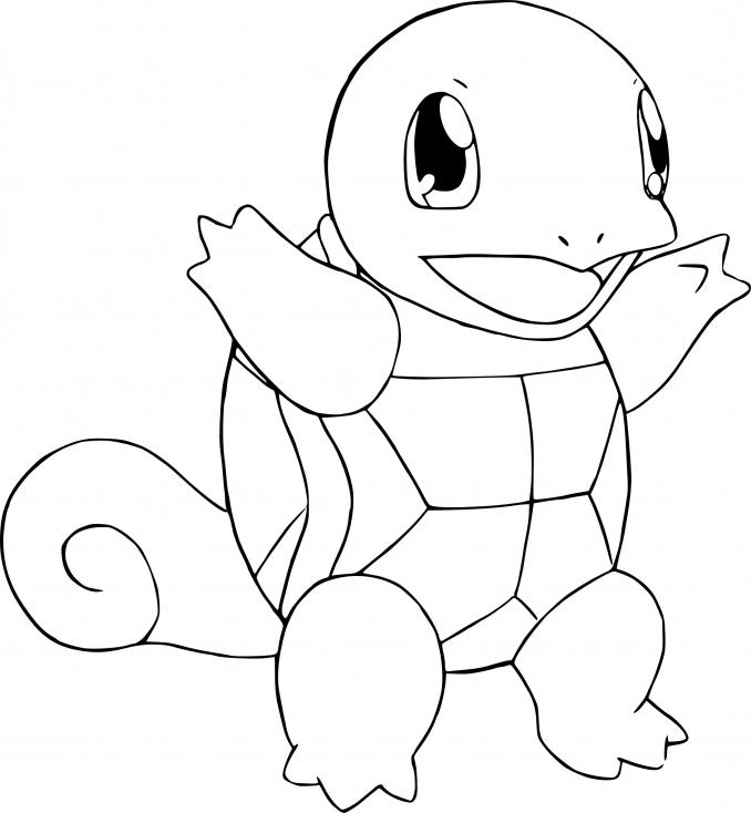 Coloriage Carapuce Pokemon