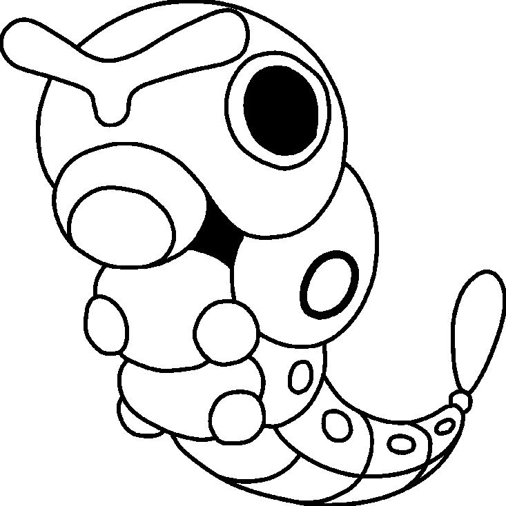 Coloriage Chenipan Pokemon