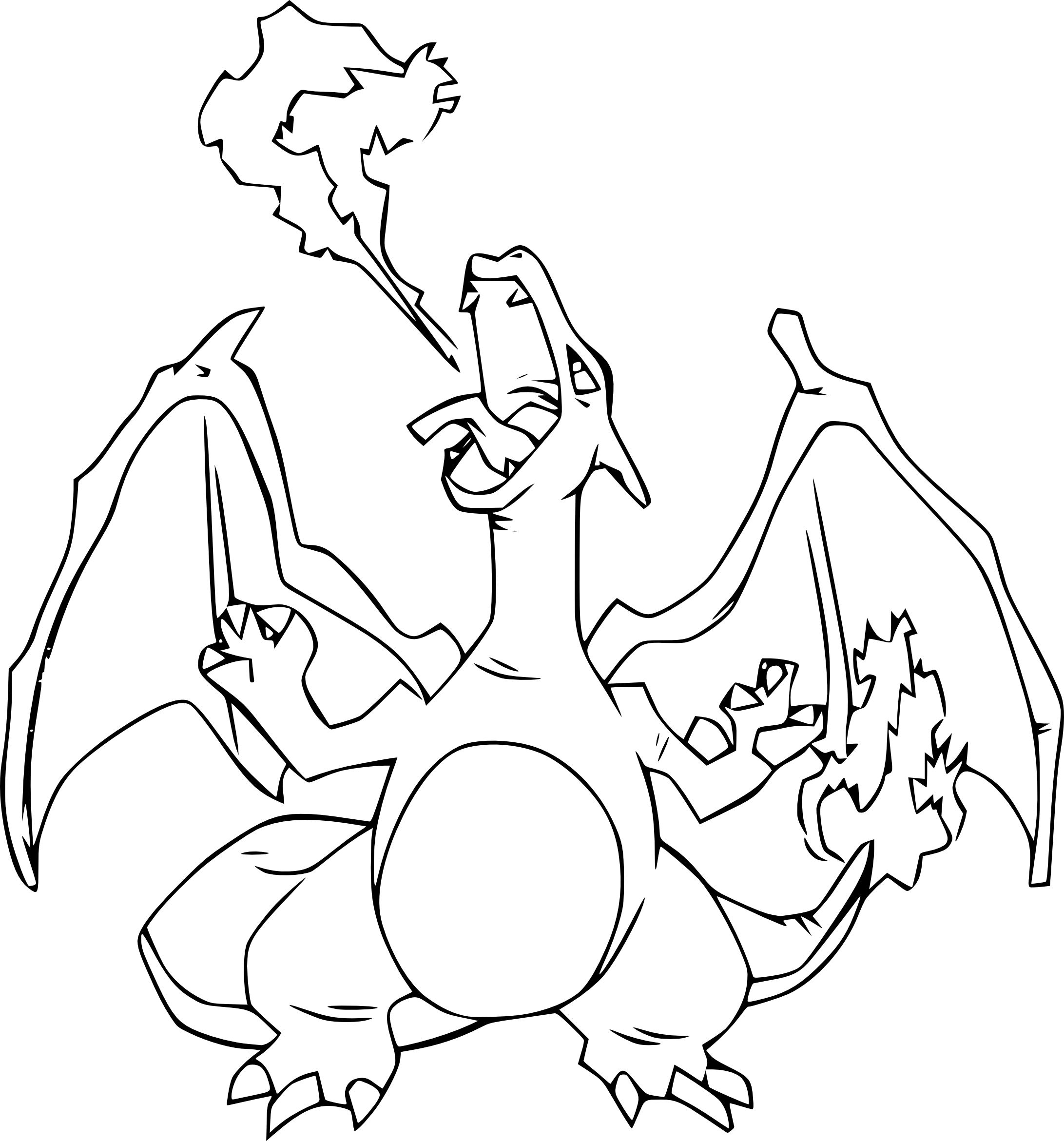 Coloriage dracaufeu pokemon imprimer - Coloriage carte pokemon ...