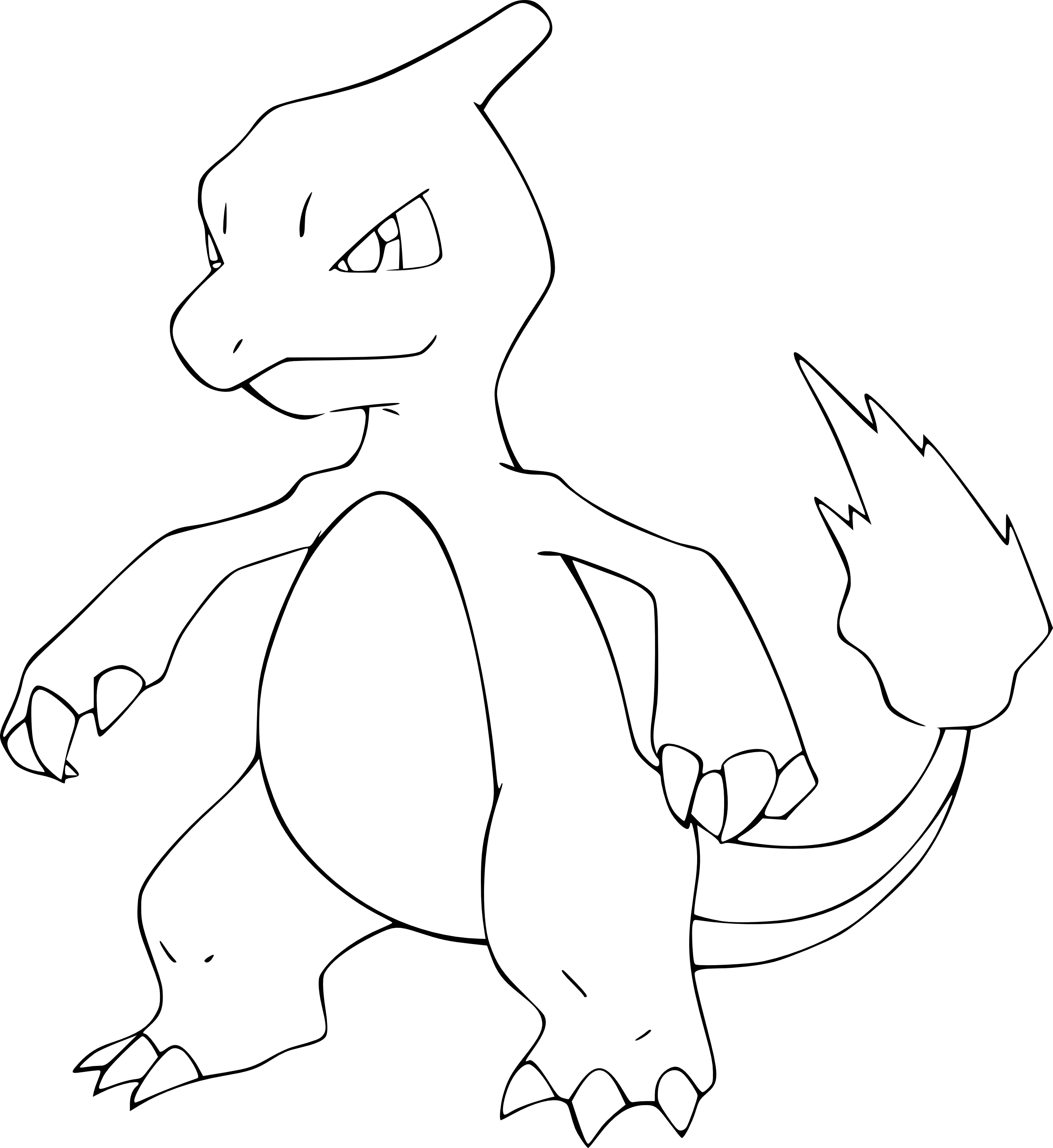 Coloriage Reptincel Pokemon A Imprimer