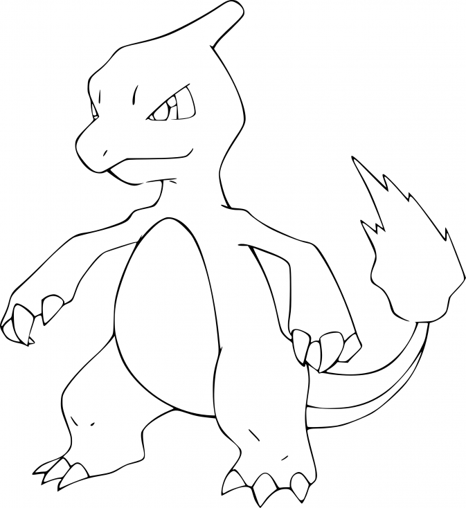 Coloriage Reptincel Pokemon