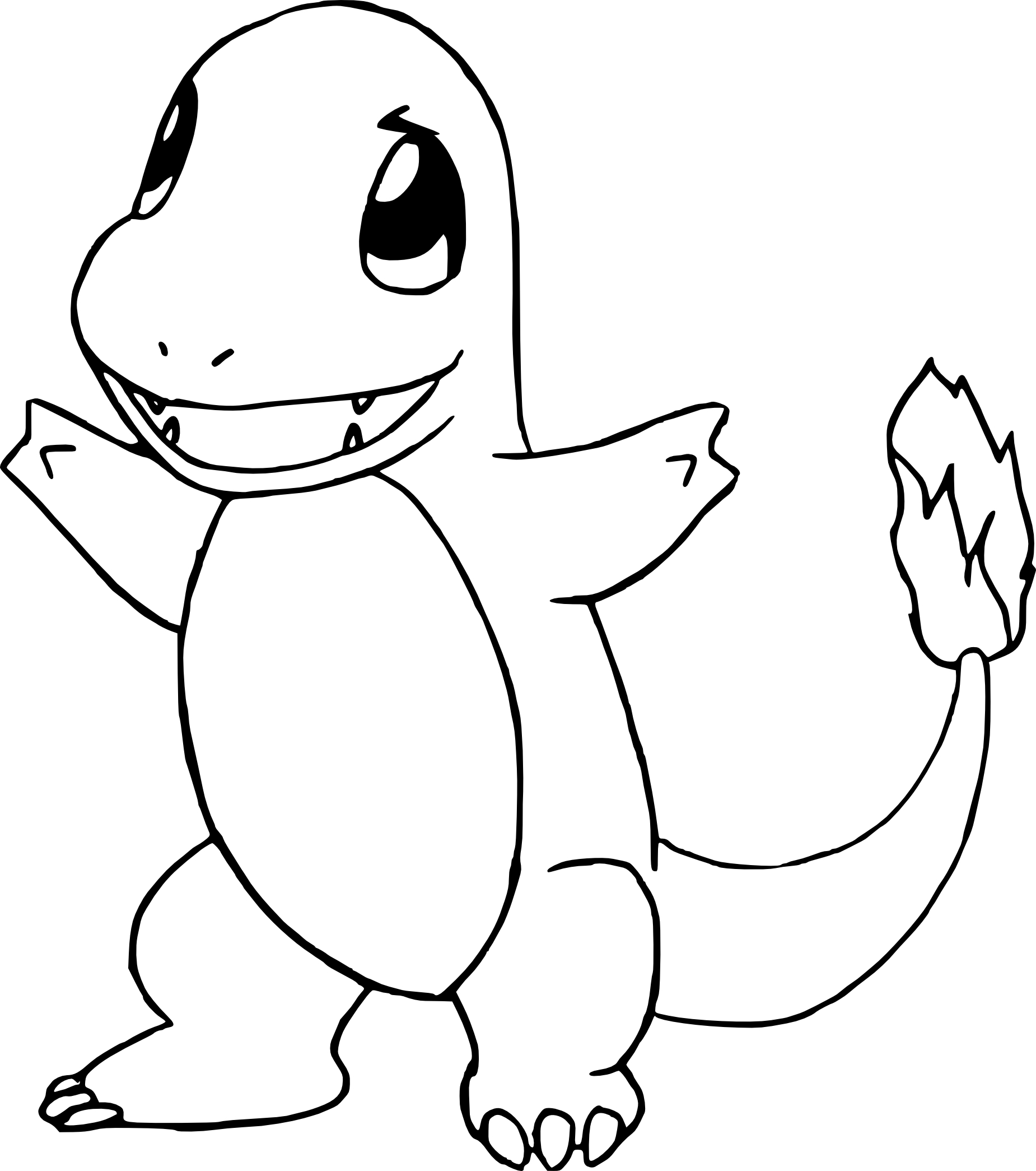 coloriage salamche pokemon