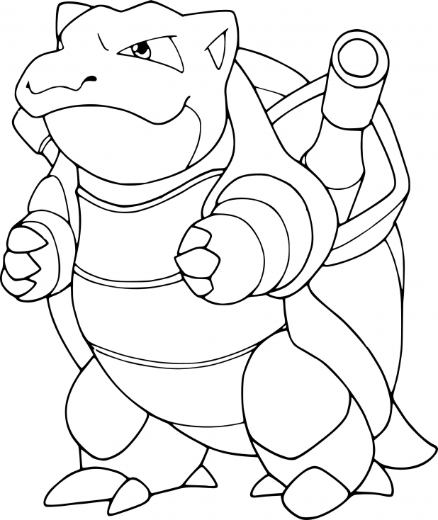 Coloriage Tortank Pokemon