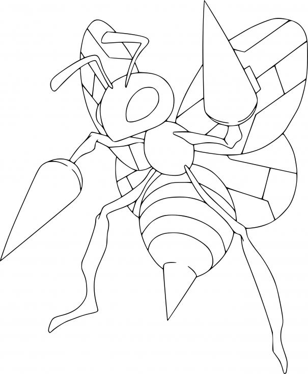 Coloriage Dardargnan Pokemon