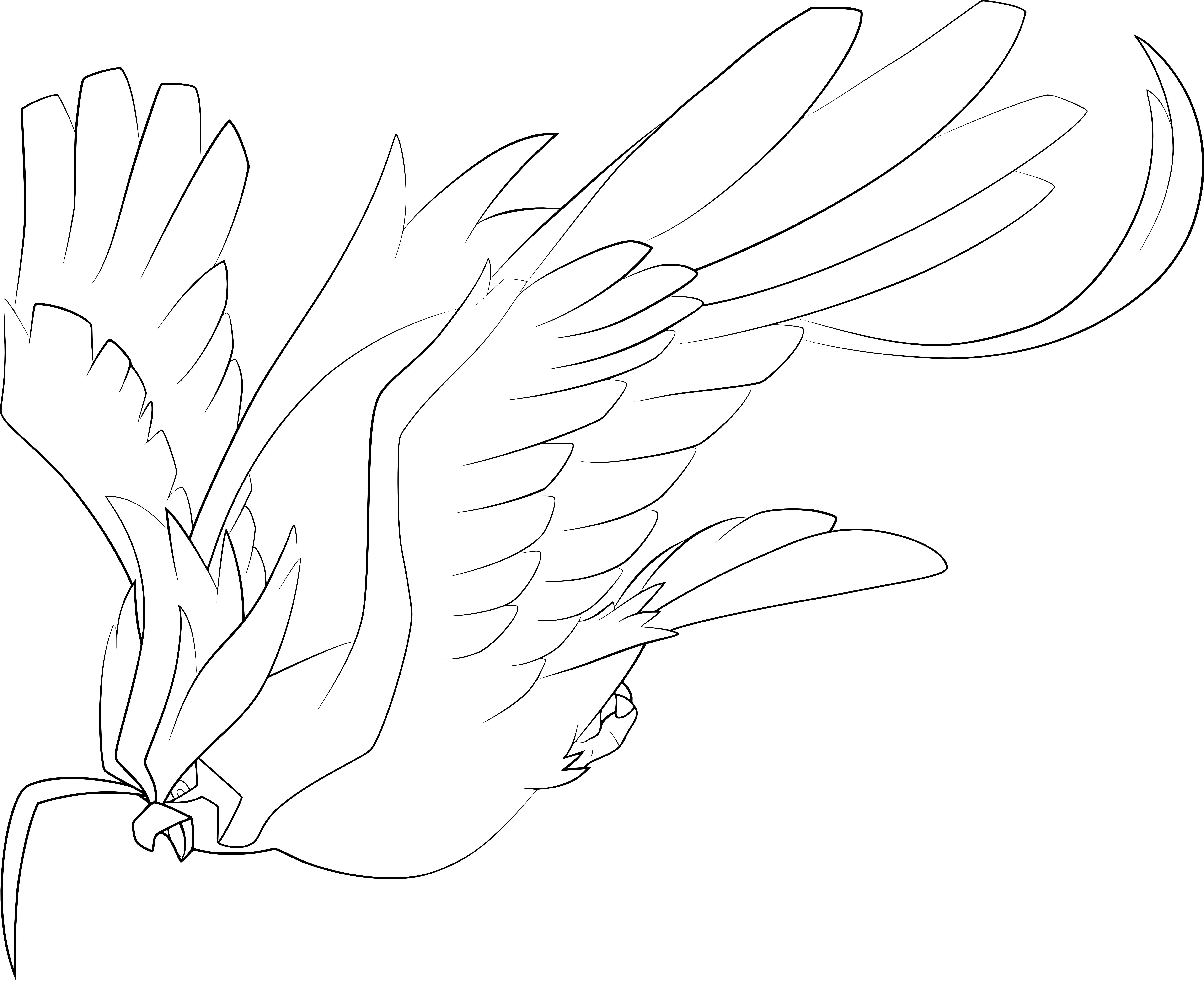 coloriage mega roucarnage pokemon
