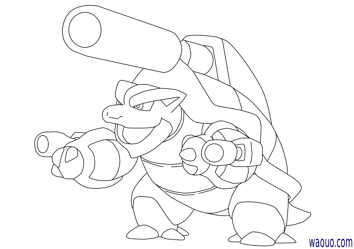Coloriage Mega Tortank Pokemon A Imprimer