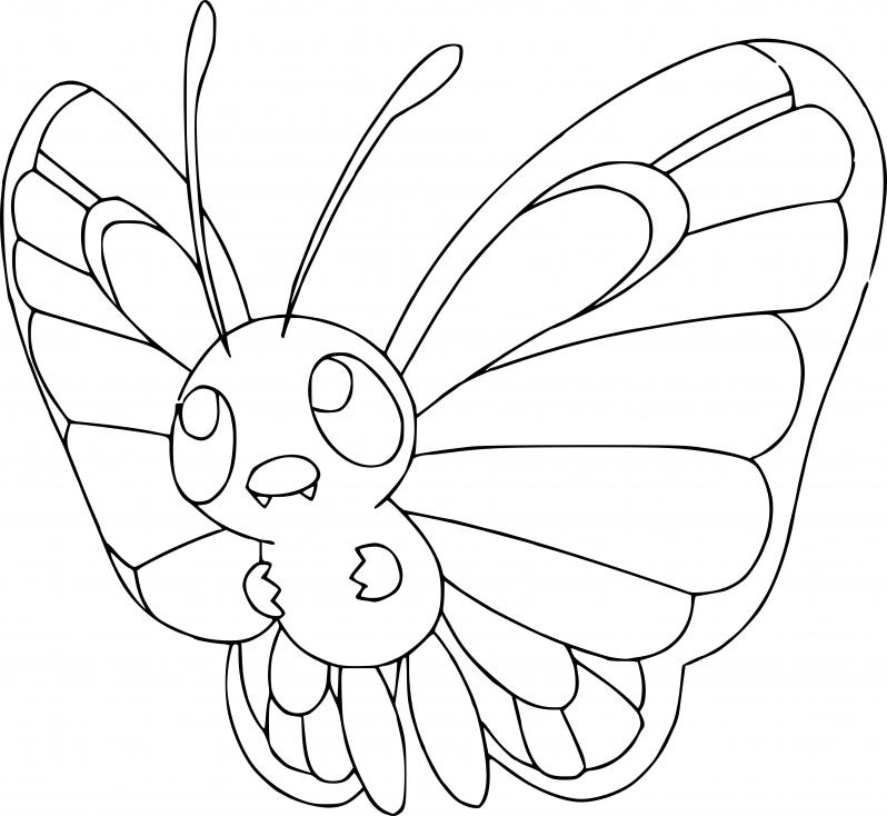 Coloriage Papilusion Pokemon