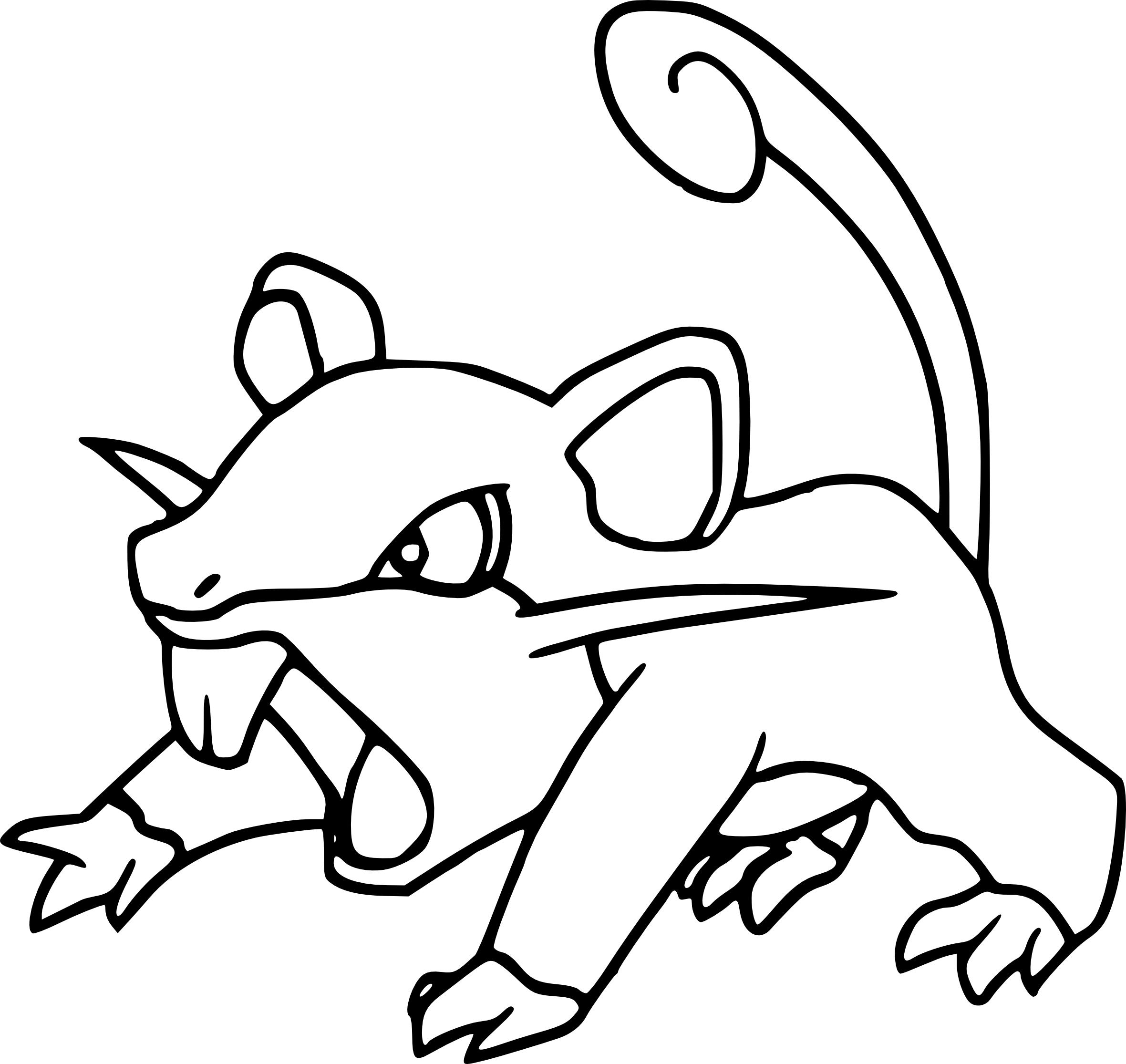 Coloriage Rattata Pokemon A Imprimer