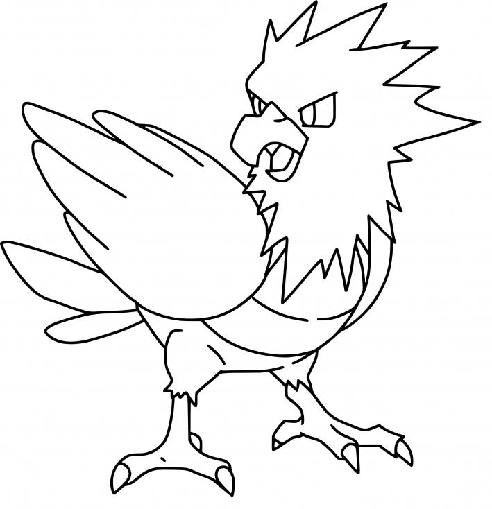Coloriage Piafabec Pokemon
