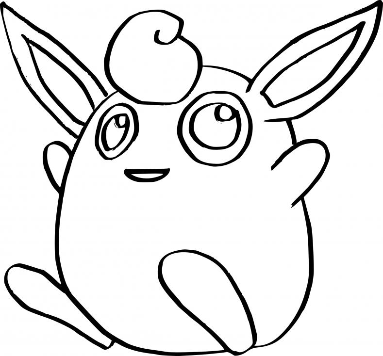 Coloriage Grodoudou Pokemon