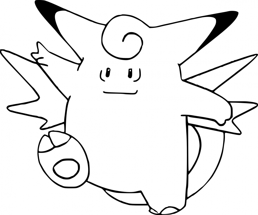 Coloriage Mélodelfe Pokemon
