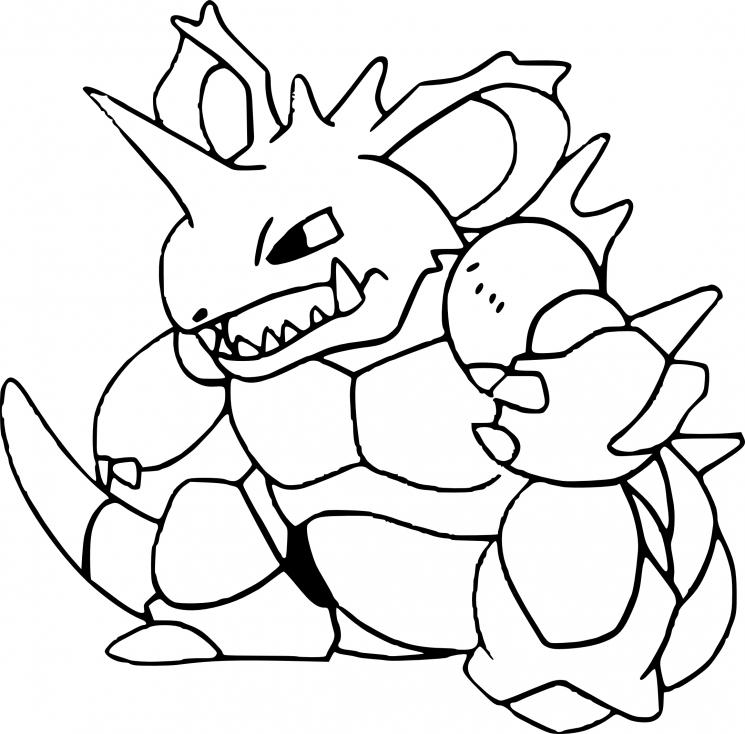Coloriage Nidoking Pokemon