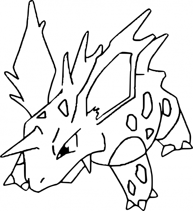 Coloriage Nidorino Pokemon