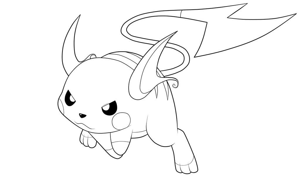 Coloriage Raichu Pokemon