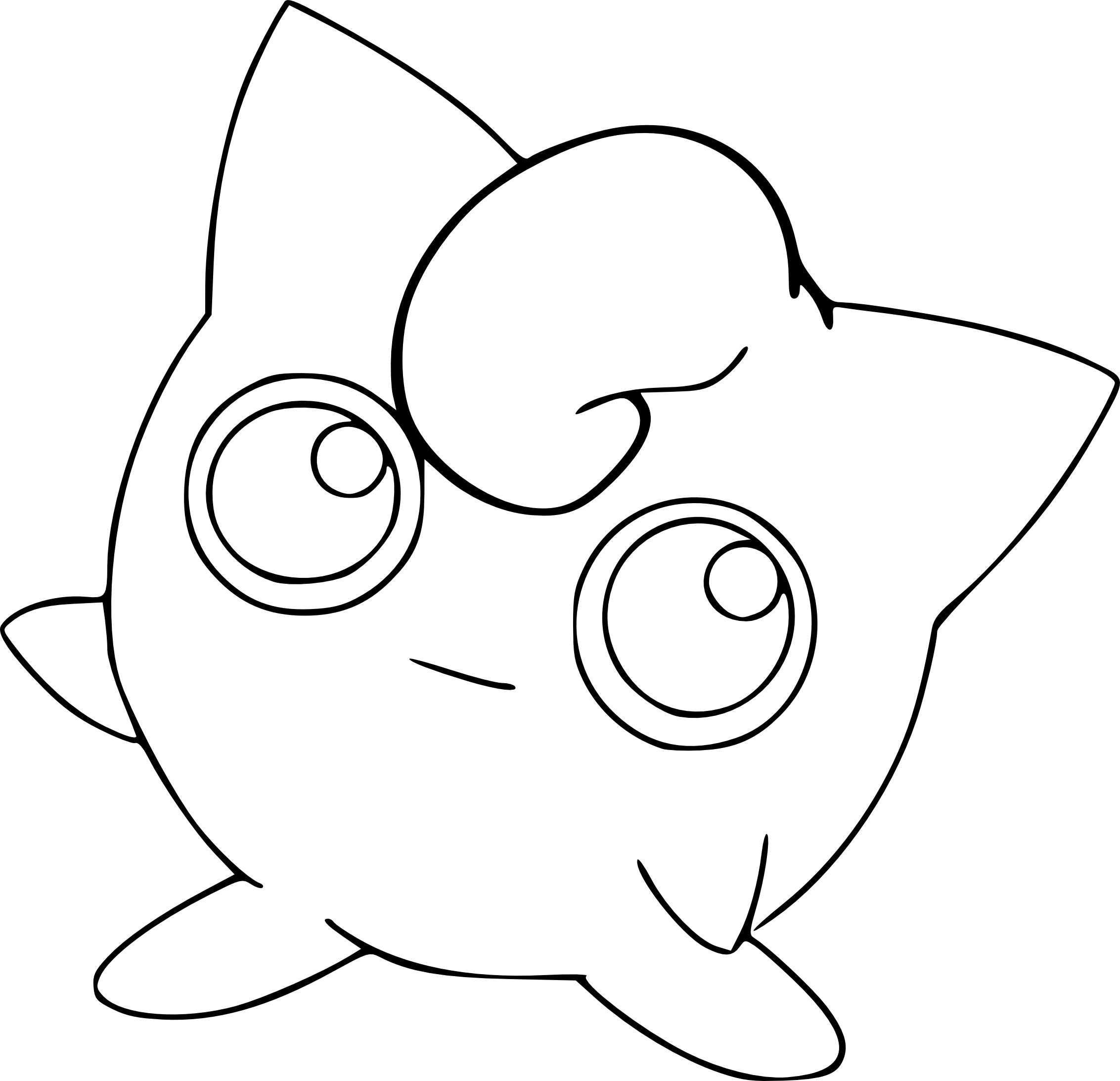 Coloriage Rondoudou Pokemon à imprimer