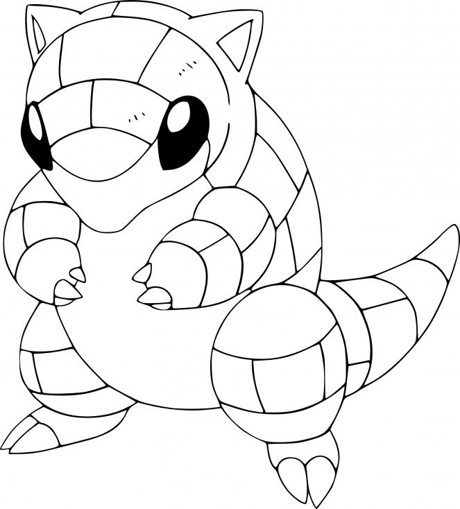 Coloriage Sabelette Pokemon