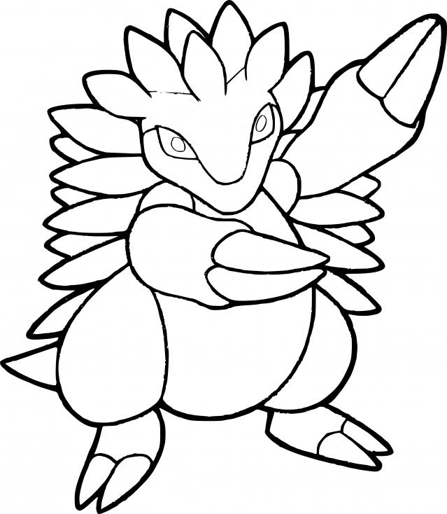 Coloriage Sablaireau Pokemon