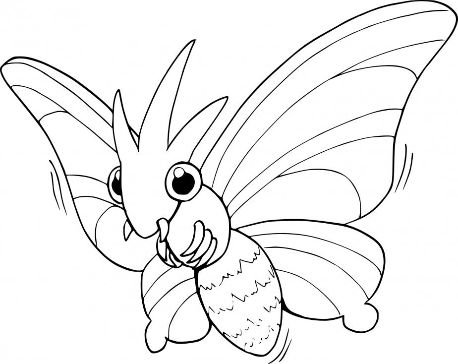 Coloriage Aéromite Pokemon