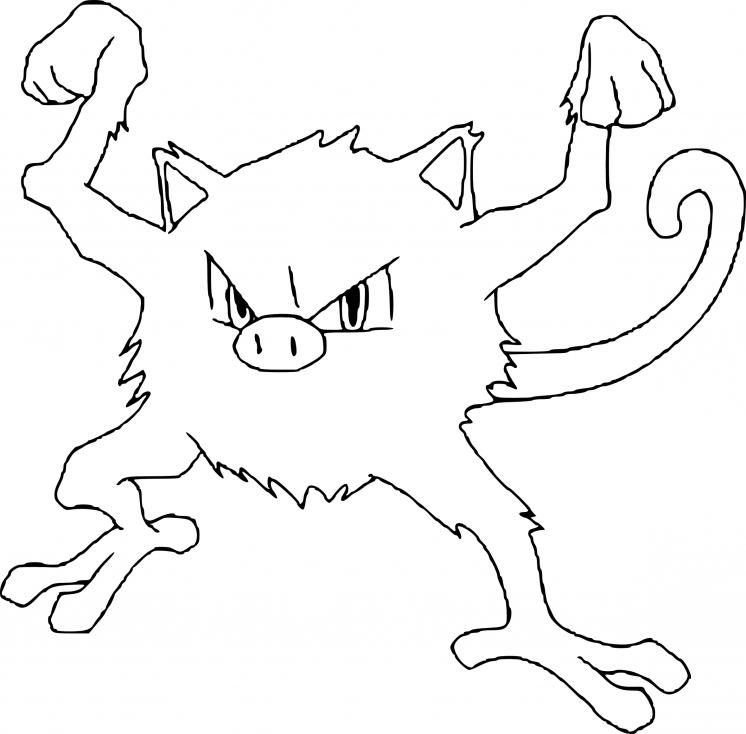 Coloriage Férosinge Pokemon