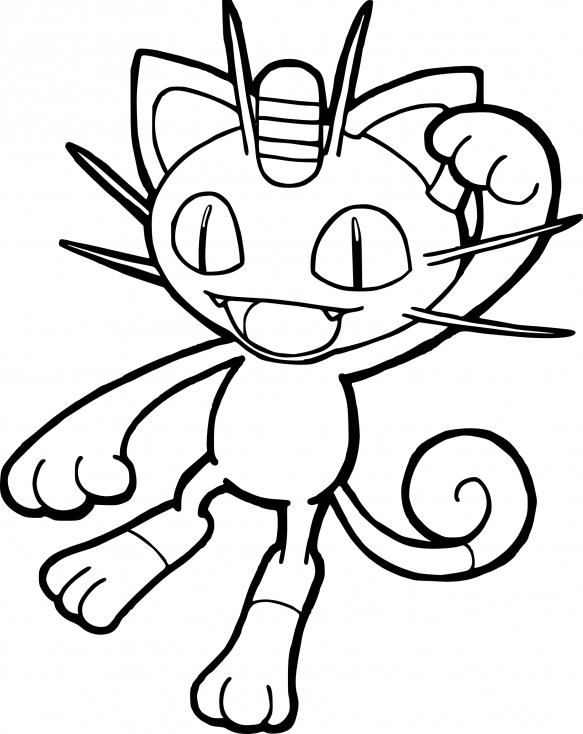 Coloriage Miaouss Pokemon