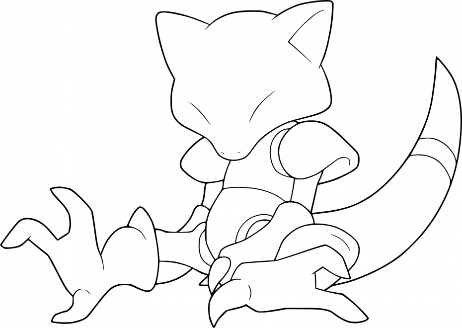 Coloriage Abra Pokemon