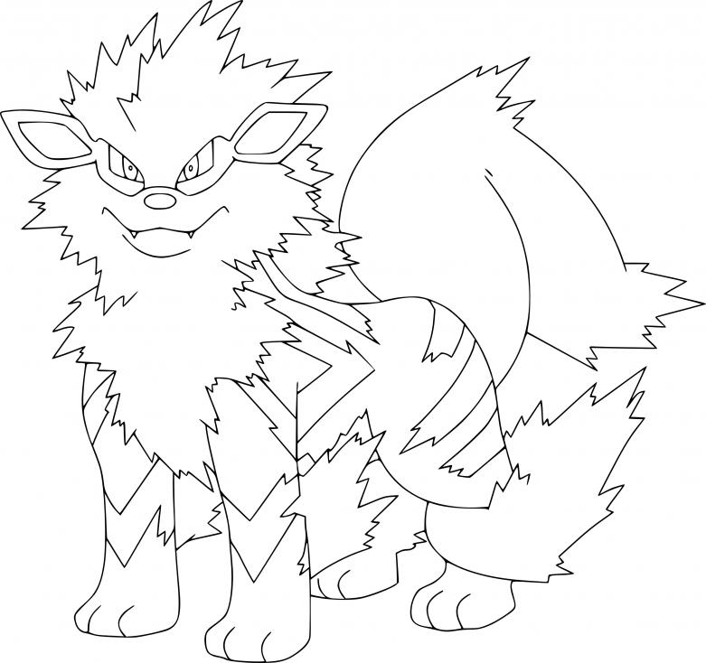Coloriage Arcanin Pokemon