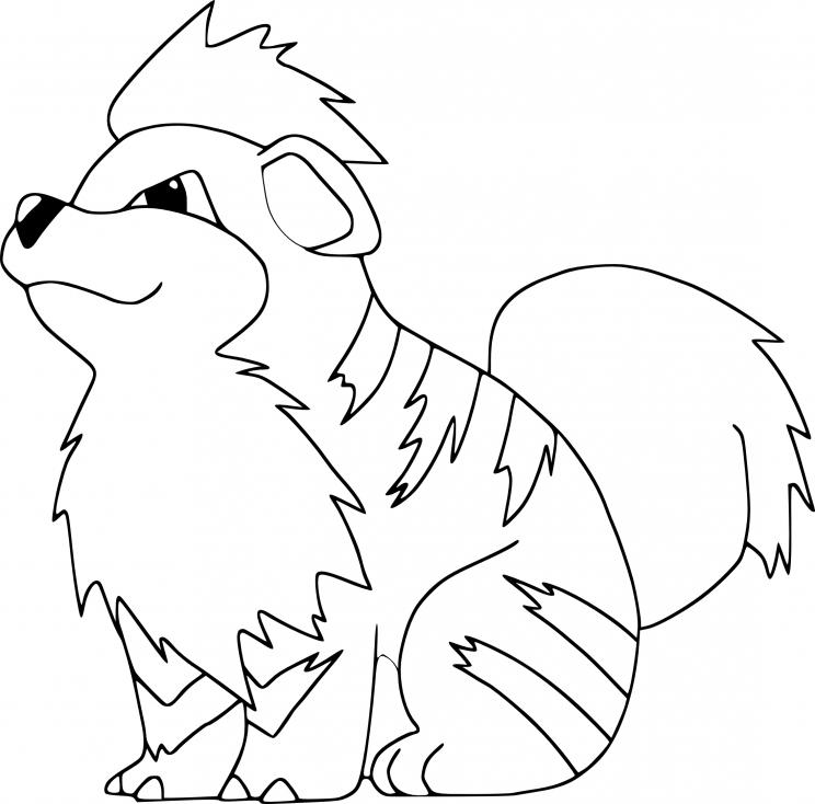 Coloriage Caninos Pokemon