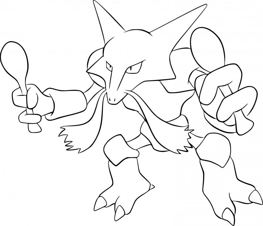 Coloriage Alakazam Pokemon