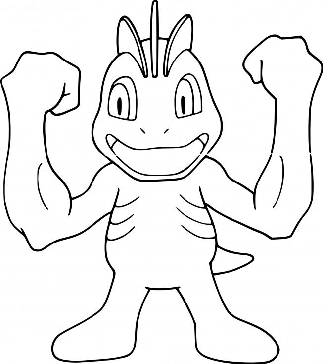 Coloriage Machoc Pokemon