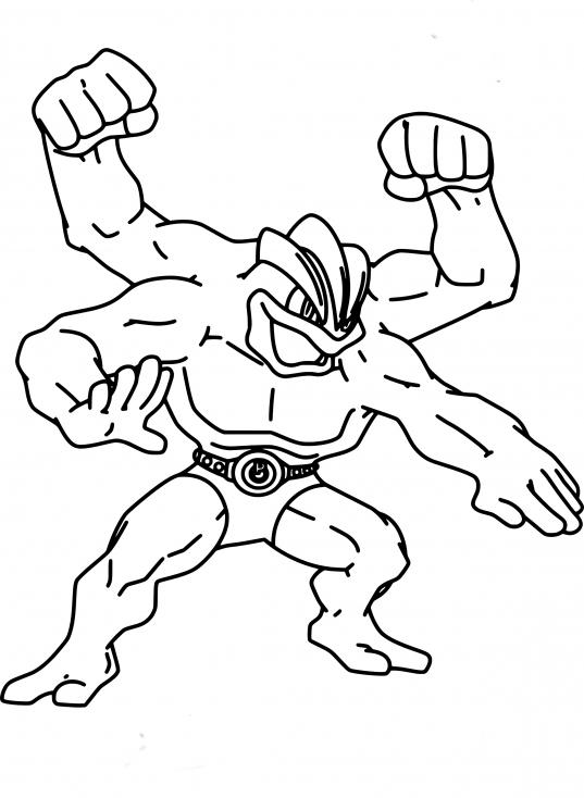 Coloriage Mackogneur Pokemon