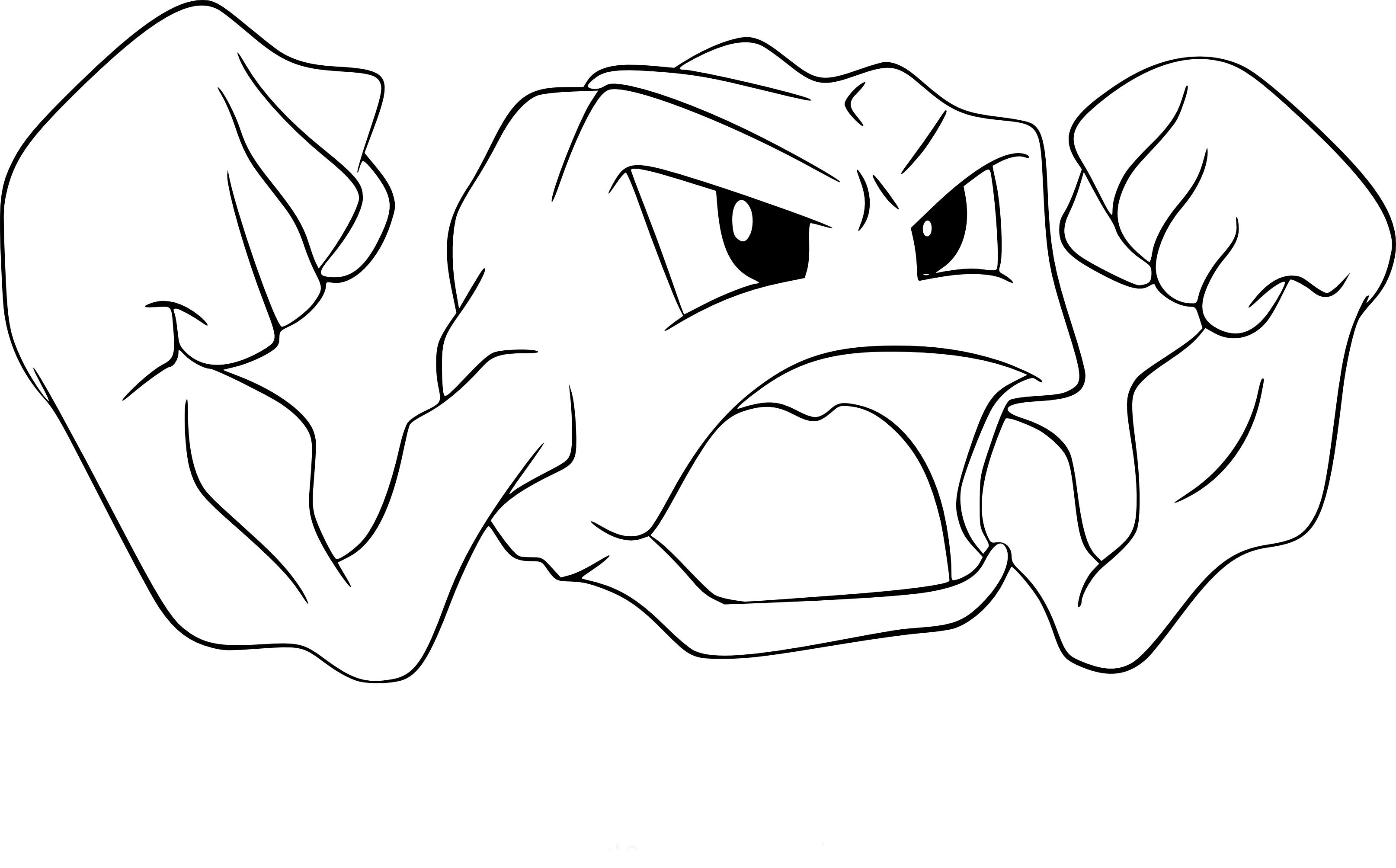Coloriage racaillou pokemon imprimer - Dessin de pokemon facile ...