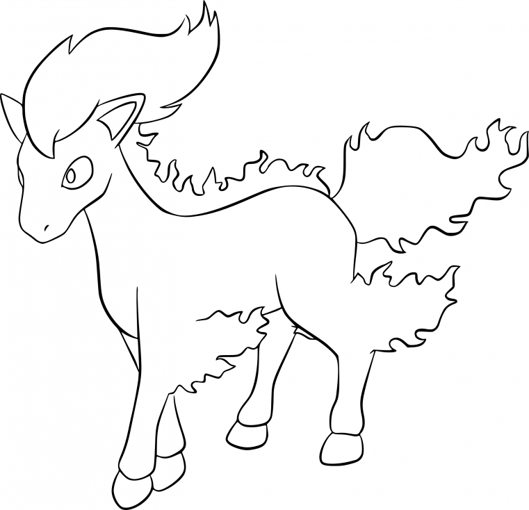 Coloriage Ponyta Pokemon