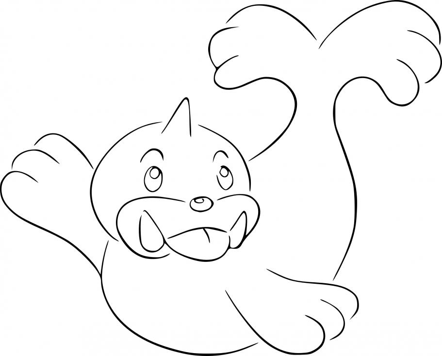 Coloriage Otaria Pokemon