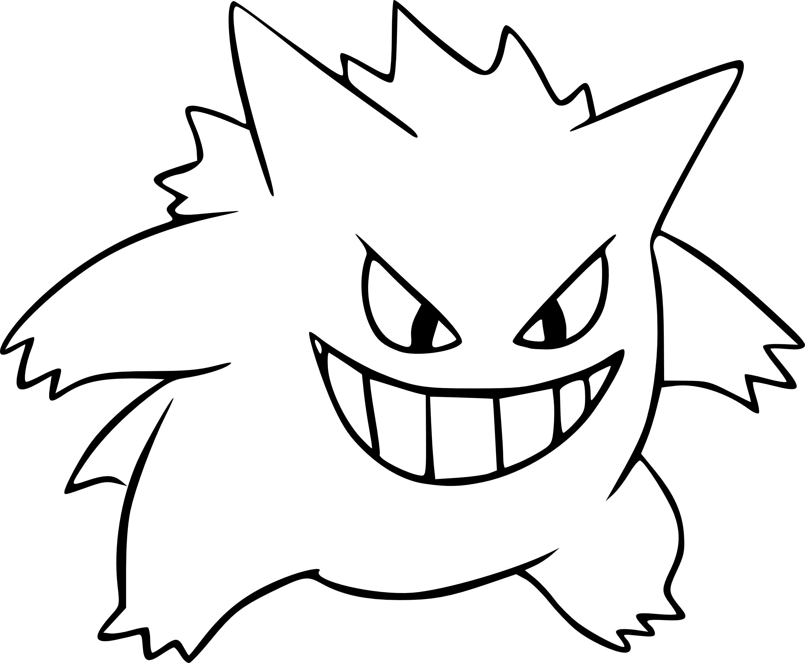 Coloriage Ectoplasma Pokemon à Imprimer