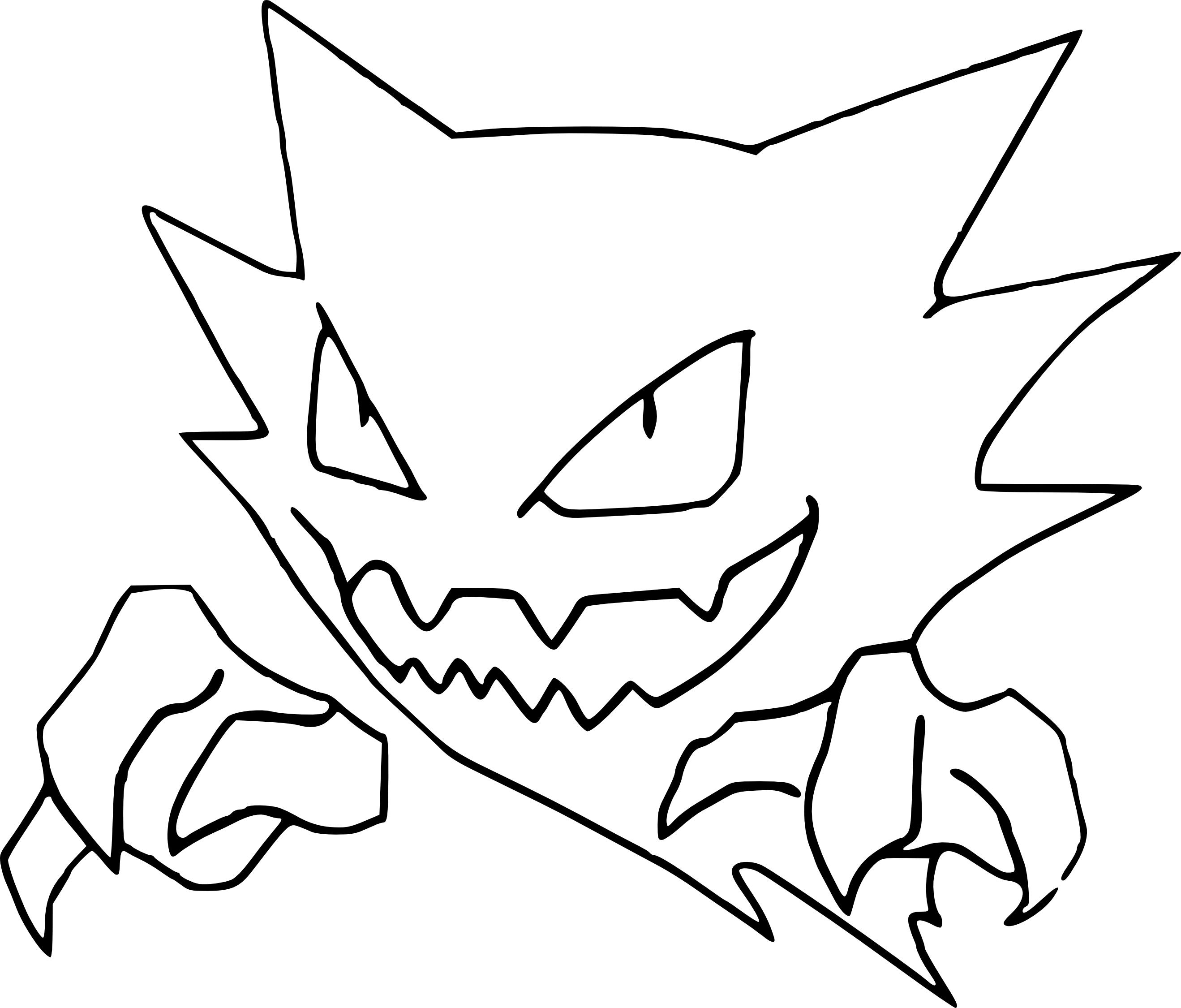 Coloriage Spectrum Pokemon à Imprimer