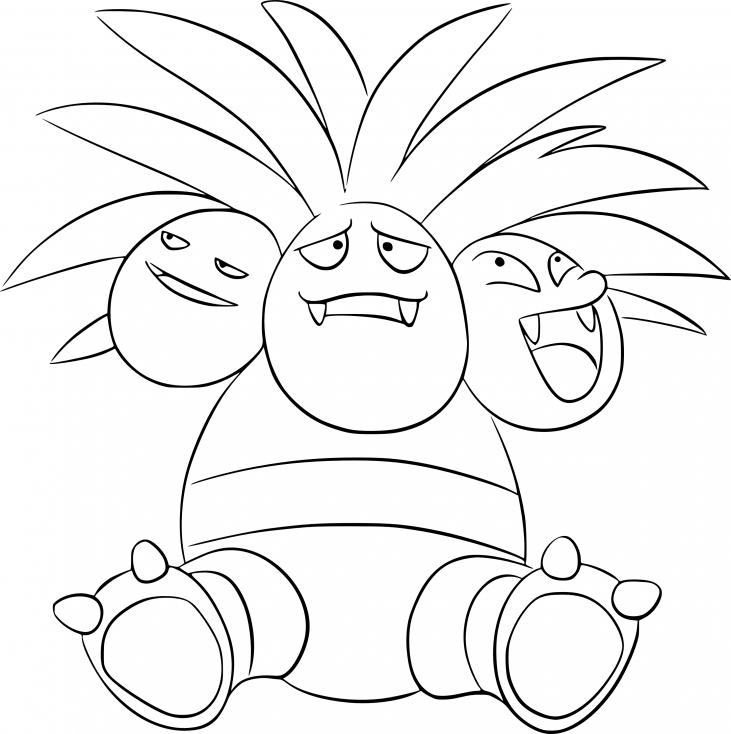Coloriage Noadkoko Pokemon