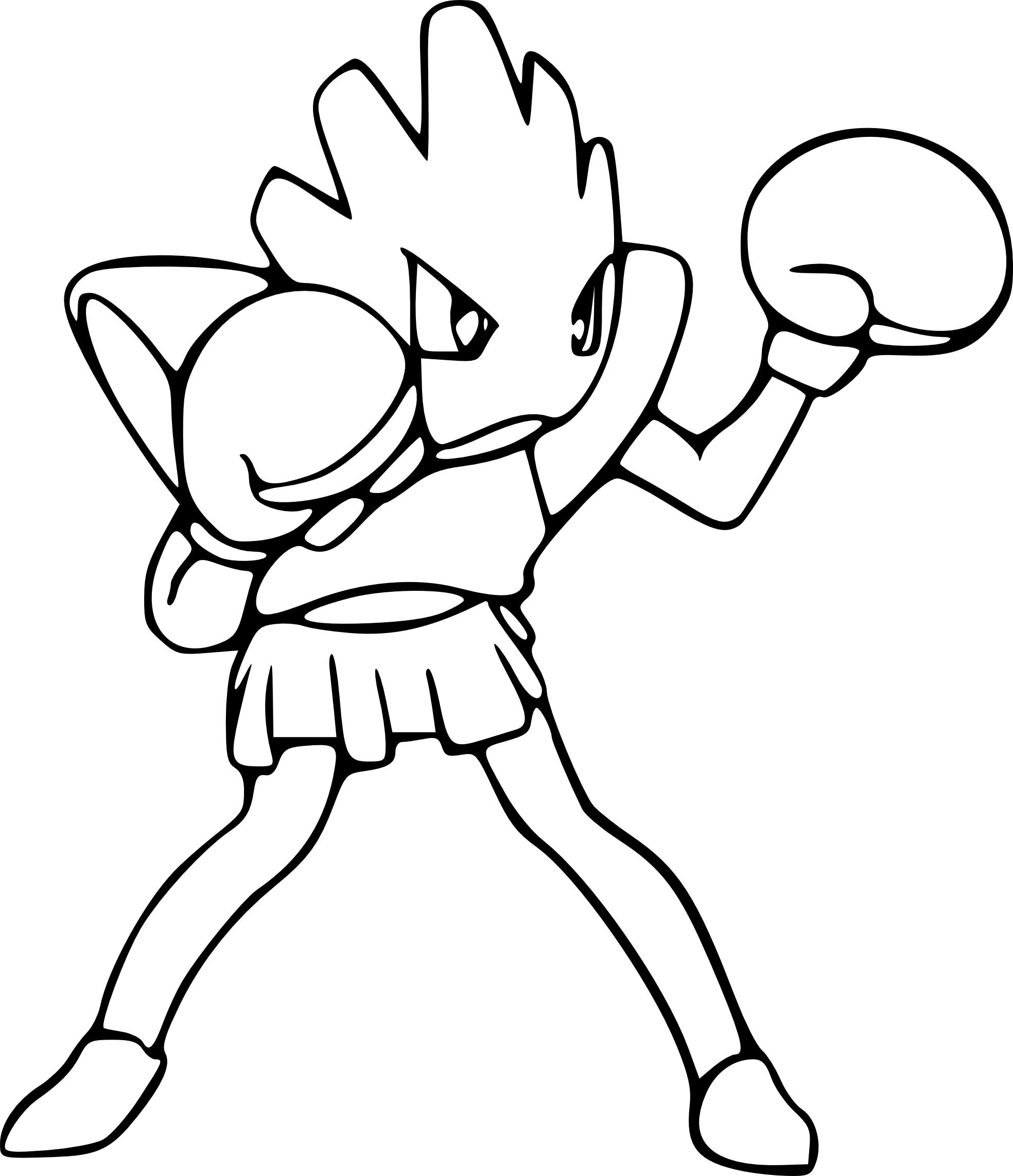 Coloriage Tygnon Pokemon 224 Imprimer