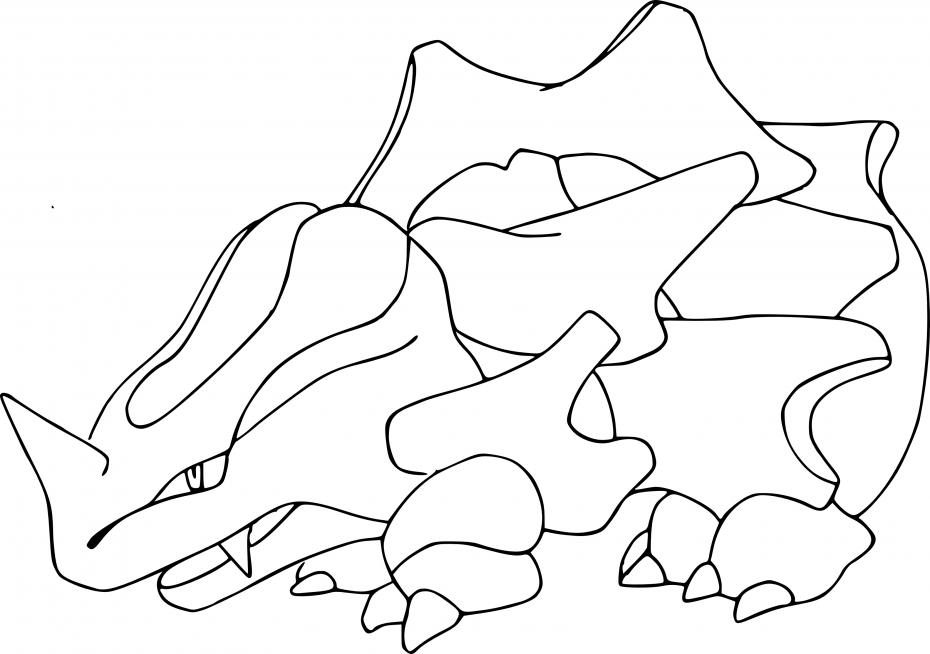 Coloriage Rhinocorne Pokemon