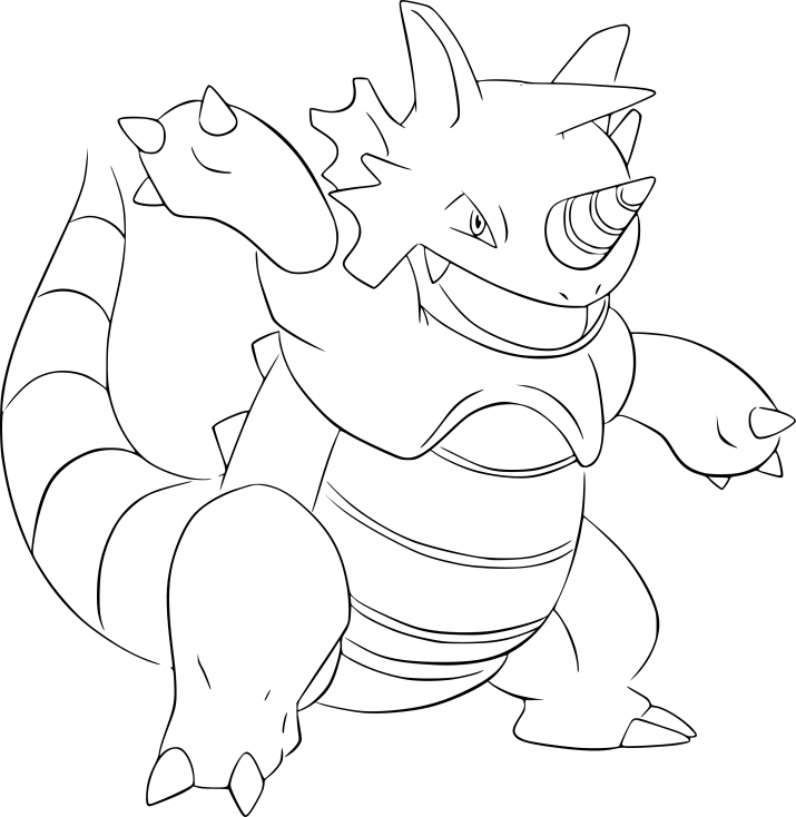 Coloriage Rhinoféros Pokemon