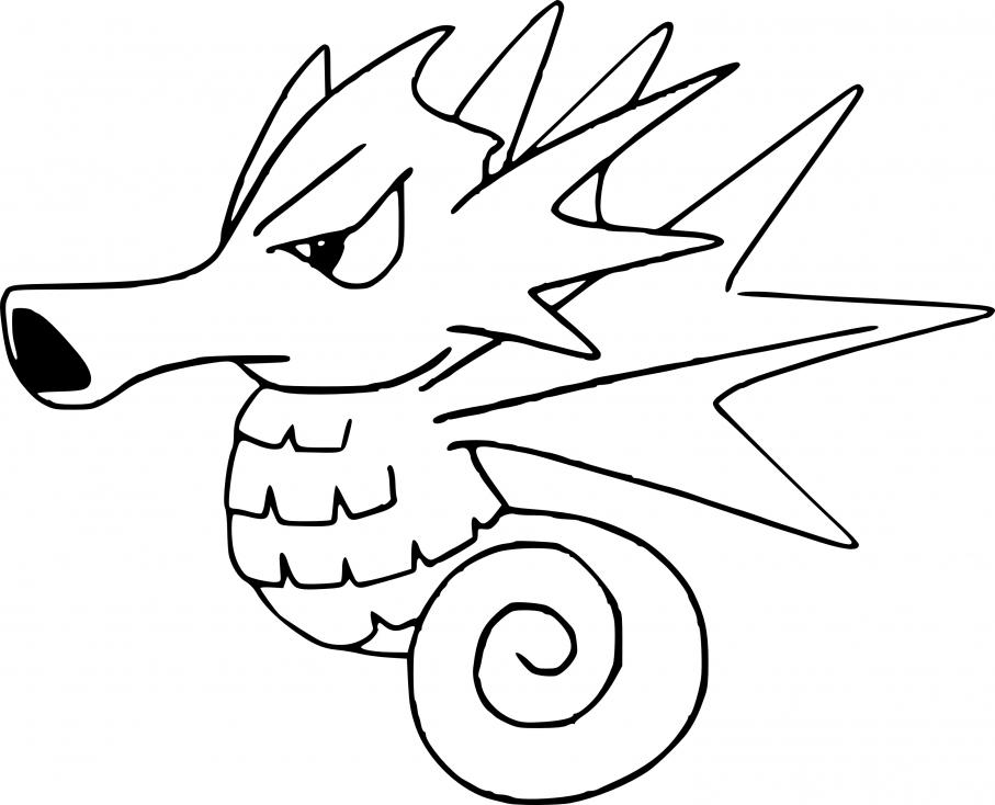 Coloriage Hypocéan Pokemon