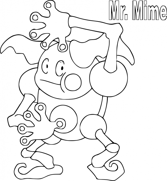 Coloriage M. Mime Pokemon