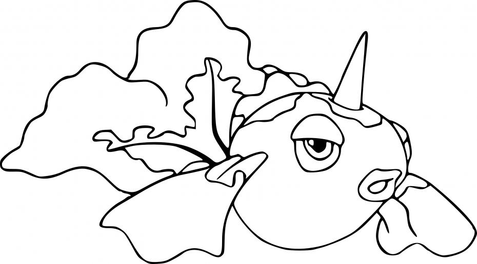 Coloriage Poissirène Pokemon