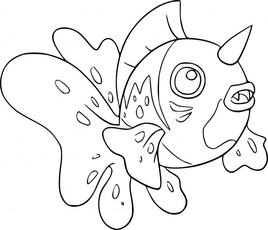 Coloriage Poissoroy Pokemon