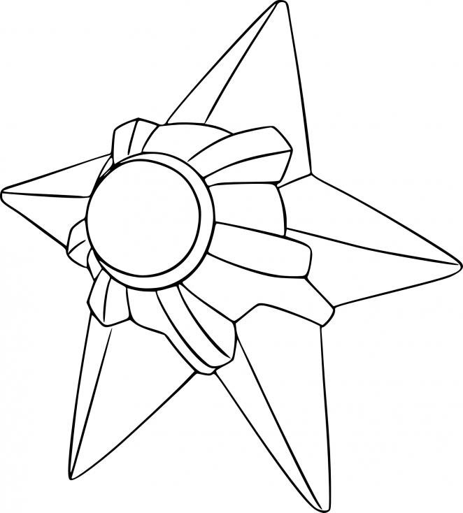 Coloriage Stari Pokemon