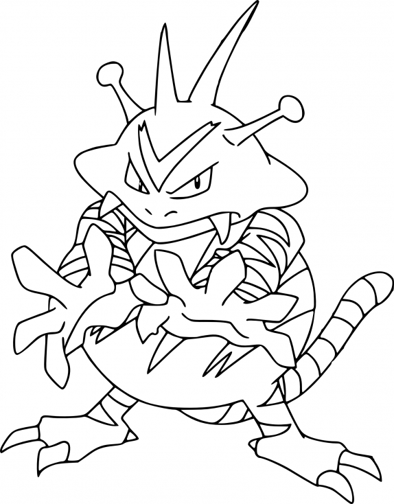 Coloriage Élektek Pokemon