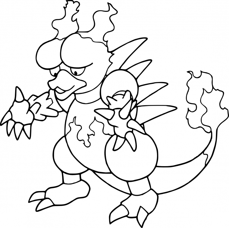 Coloriage Magmar Pokemon