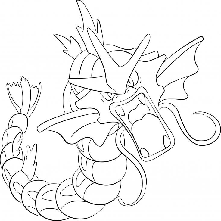 Coloriage Léviator Pokemon