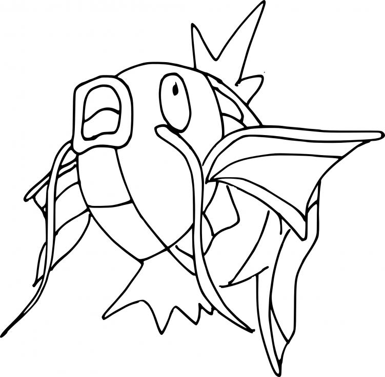 Coloriage Magicarpe Pokemon